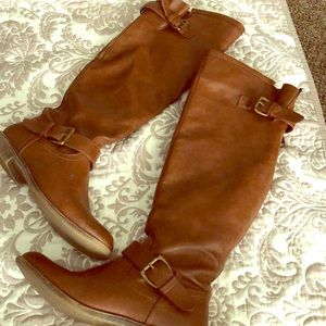Brown Over The Knee Riding Boots